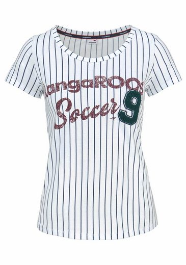 KangaROOS T-Shirt, im College Look mit Frottee-Applikation