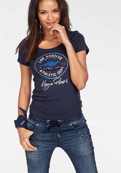 KangaROOS T-Shirt mit großem Retro Label-Druck vorne