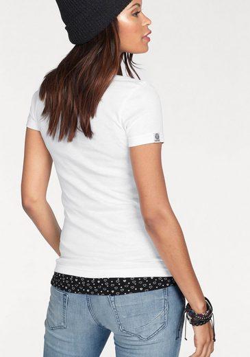 T-shirt Kangourous (ensemble, 2 Pièces, Avec Top), Avec Imprimé, Ensemble Avec Débardeur En Allover-coeur-print