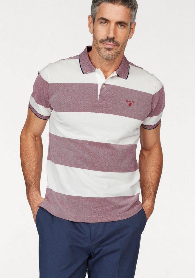 Herren Gant  Poloshirt Oxford Stripe Rugger weiß   07325702129013