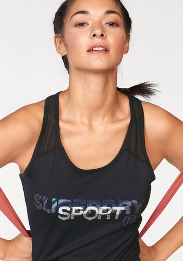 Superdry Tanktop FITTED MESH VEST
