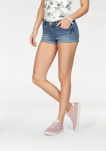 KangaROOS Jeanshotpants, mit umgeschlagenem Saum