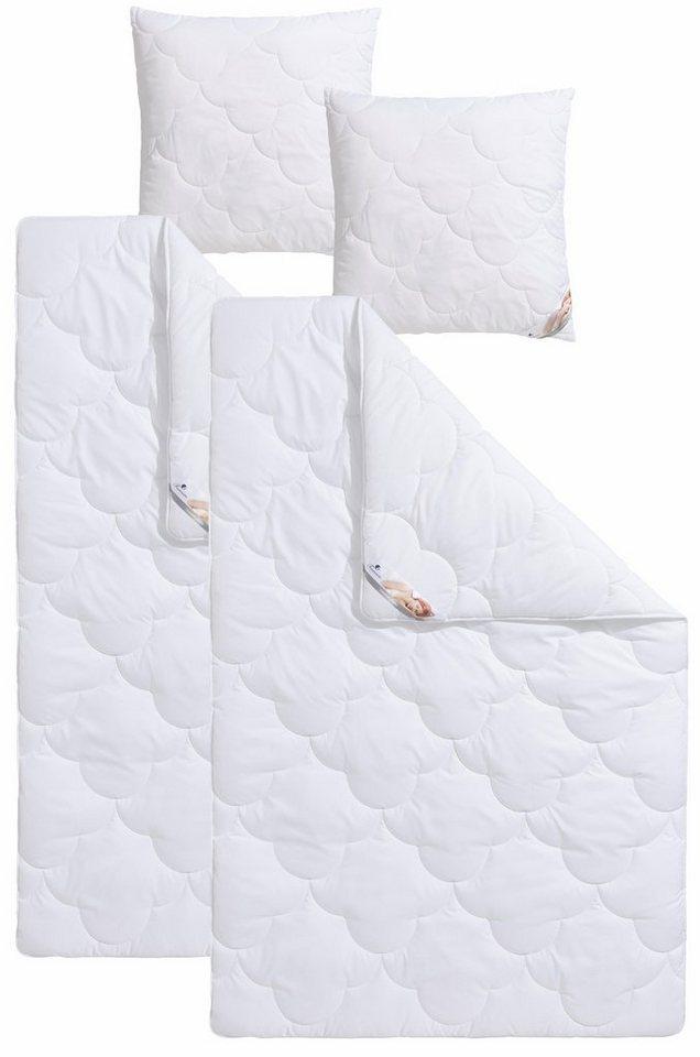 set microfaserbettdecken kopfkissen traumecht mondschein warm hohenstein klimakomfort. Black Bedroom Furniture Sets. Home Design Ideas
