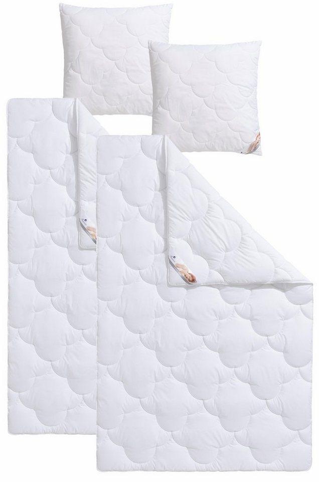 set microfaserbettdecken kopfkissen mondschein traumecht normal hohenstein. Black Bedroom Furniture Sets. Home Design Ideas