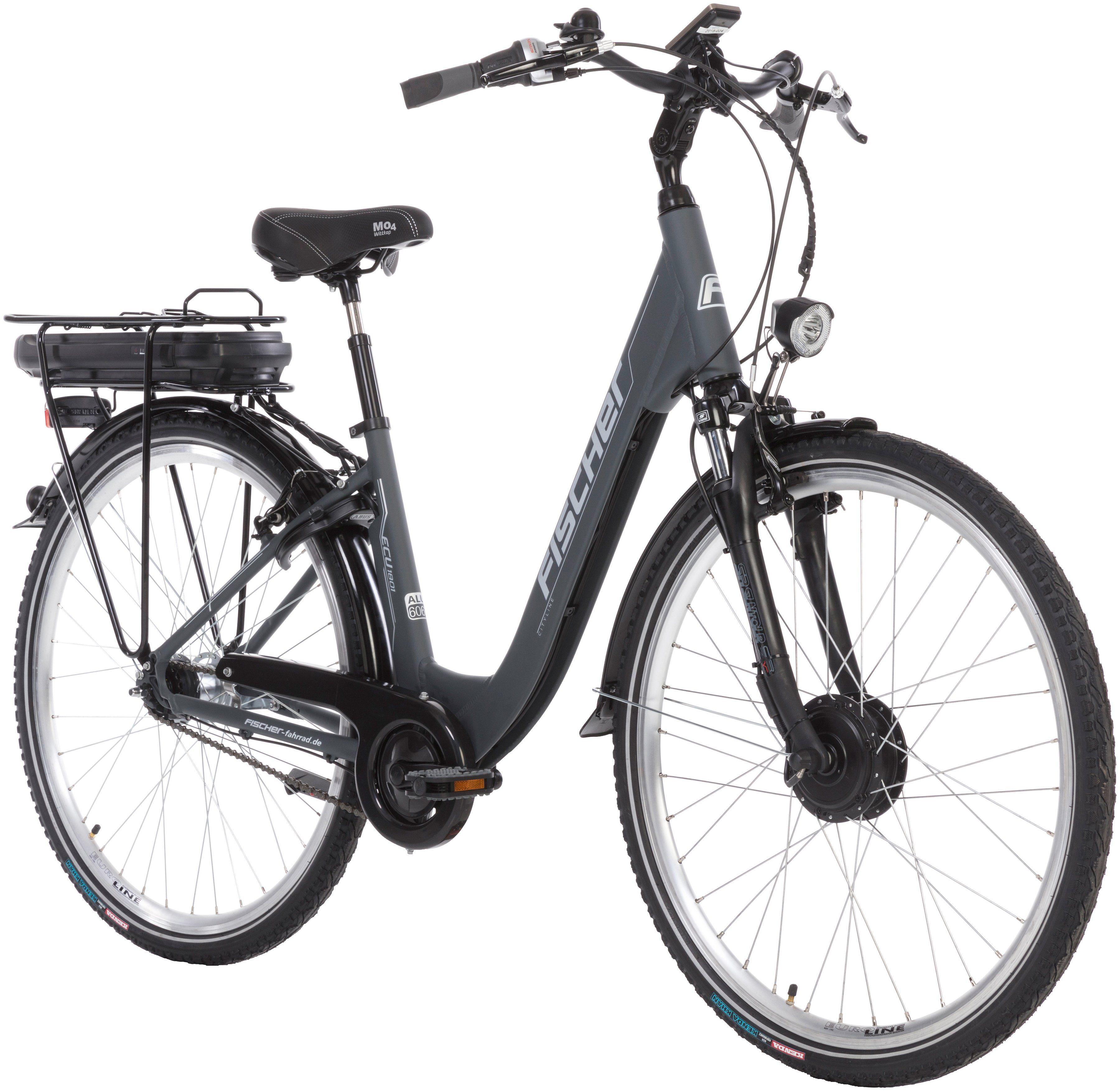 FISCHER FAHRRAEDER E-Bike City Damen »ECU1801«, 28 Zoll, 7 Gänge, 396 Wh