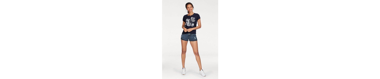 T KangaROOS KangaROOS Shirt mit Knopfleiste gro脽em T und Front Print xrEEwtF