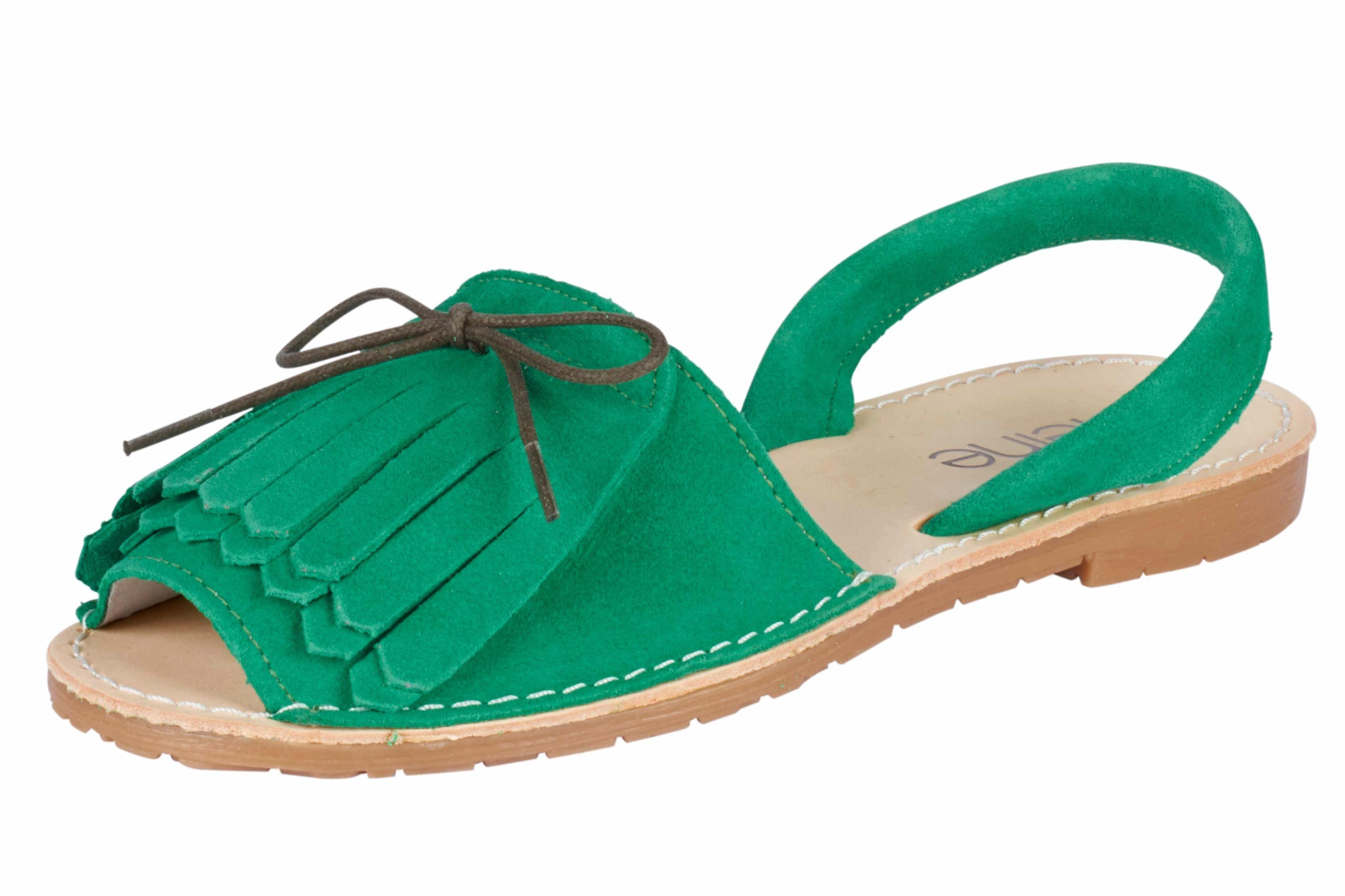 Heine Sandalette mit Haferllasche online kaufen  grün