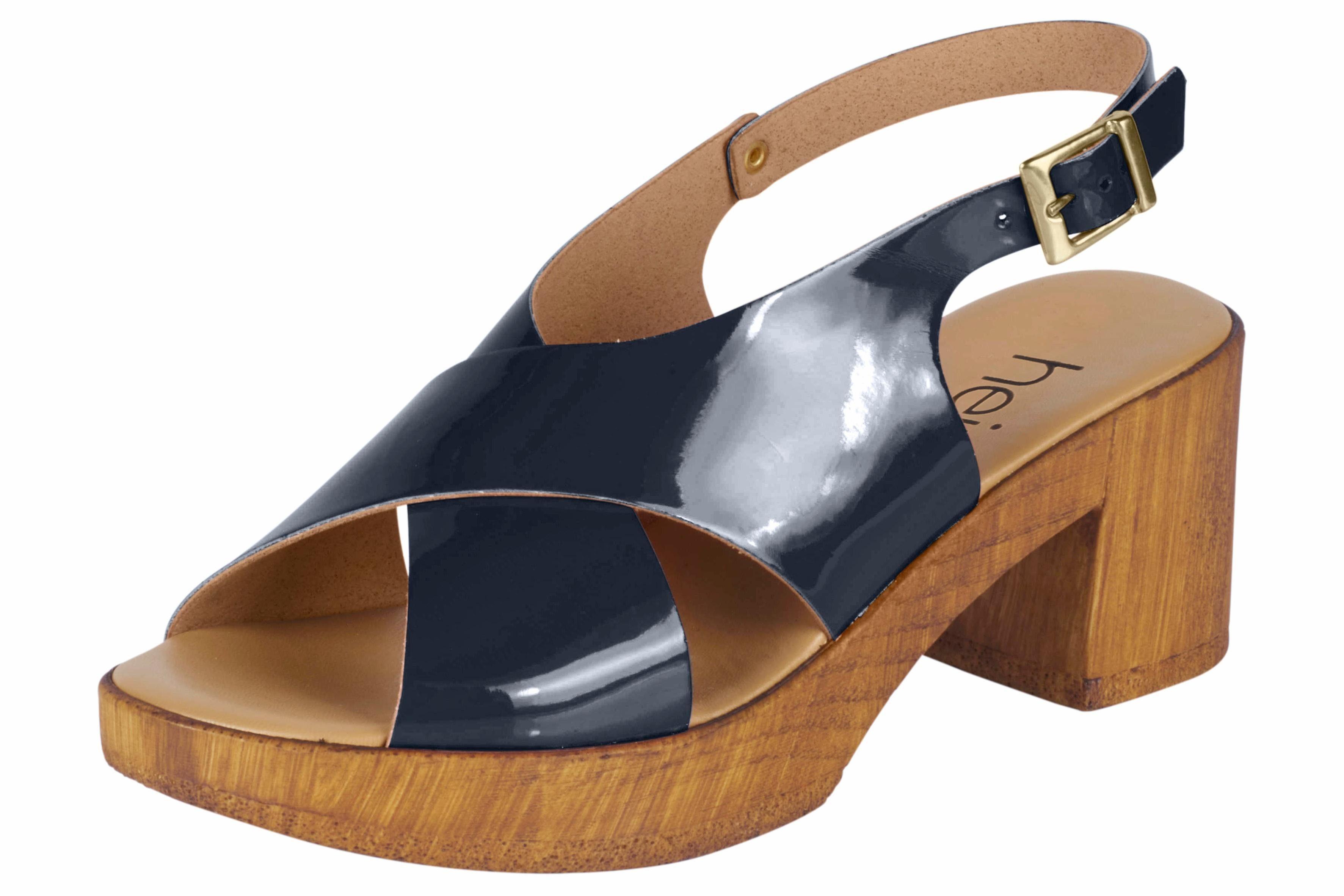 Heine Sandalette in Lack-Optik online kaufen  blau