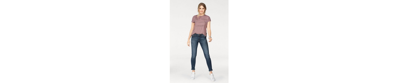 JACQUELINE de YONG Stretch-Jeans SKINNY FLORA, mit ausgefransten Säumen