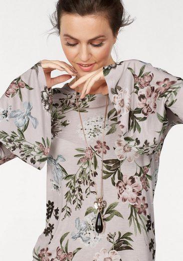 Laura Scott Langarmshirt, mit aufwendigem Blütenprint