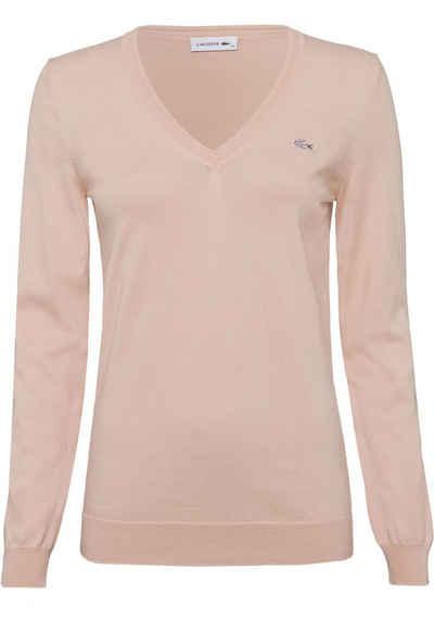 Lacoste V-Ausschnitt-Pullover aus leichter Feinstrickqualität a9746c8ce1