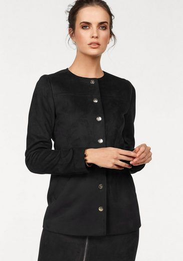 Bruno Banani Long Blazer With Gold-colored Press Studs