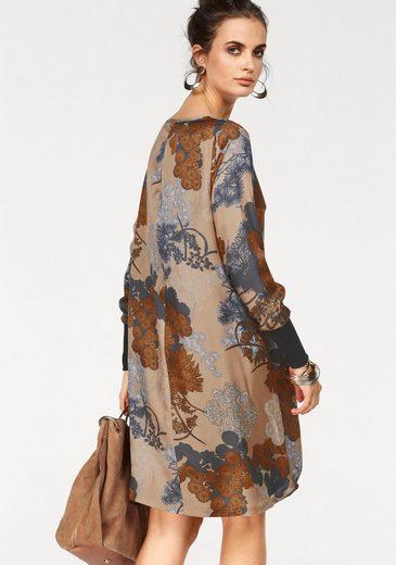 CLAIRE WOMAN Druckkleid, aus schimmerndem Satin