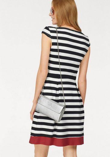 Bruno Banani A-Linien-Kleid, Block-Streifen