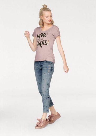 Zhrill T-Shirt RENE, mit besonderem Statement-Print