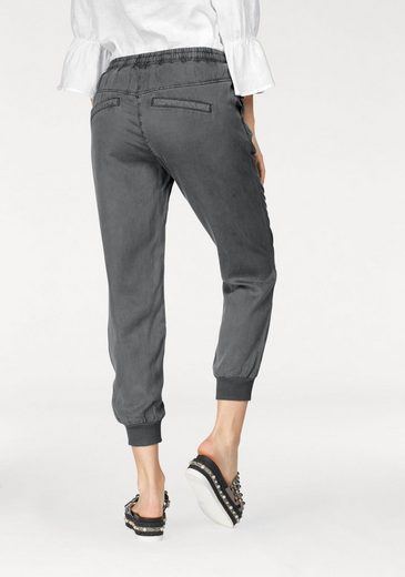 Claire Woman Jogger Pants, With Sporty Cuffs Tied