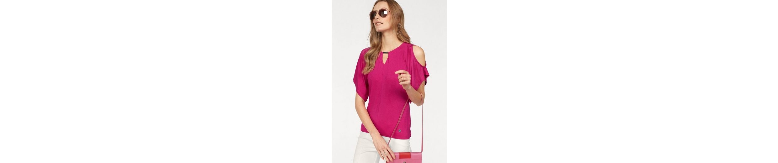 Bruno Banani Wickelshirt, mit Schulter Cut Outs