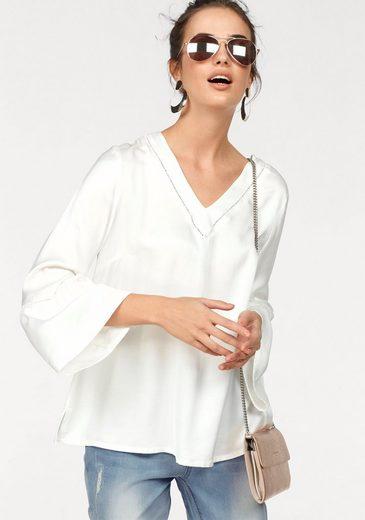 CLAIRE WOMAN Blusenshirt, mit feinen Häkel-Einsätzen