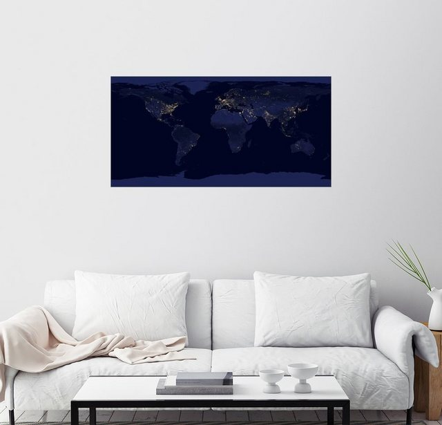 Posterlounge Wandbild Nasa Erde bei Nacht