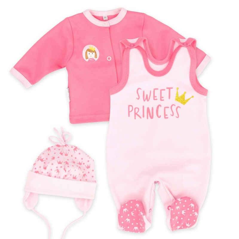 Baby Sweets Shirt, Strampler, Jäckchen, Mütze & Schühchen »3tlg Set Strampler + Shirt + Mütze Sweet Princess« (3-tlg)