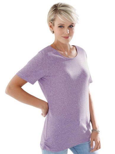 Classic Basics Shirt in aktueller Melange-Optik