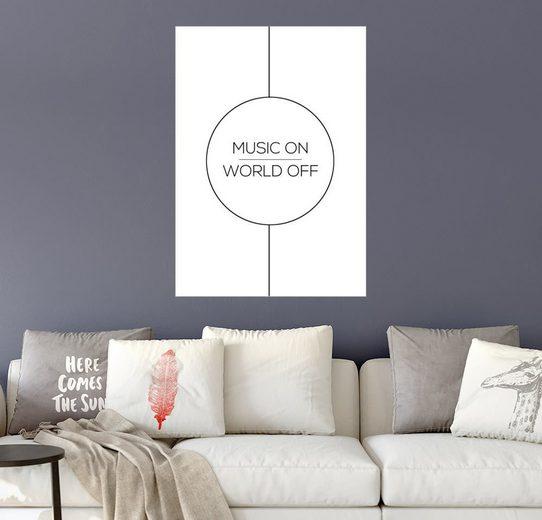 Posterlounge Wandbild - Stephanie Wünsche »MUSIC ON, WORLD OFF«