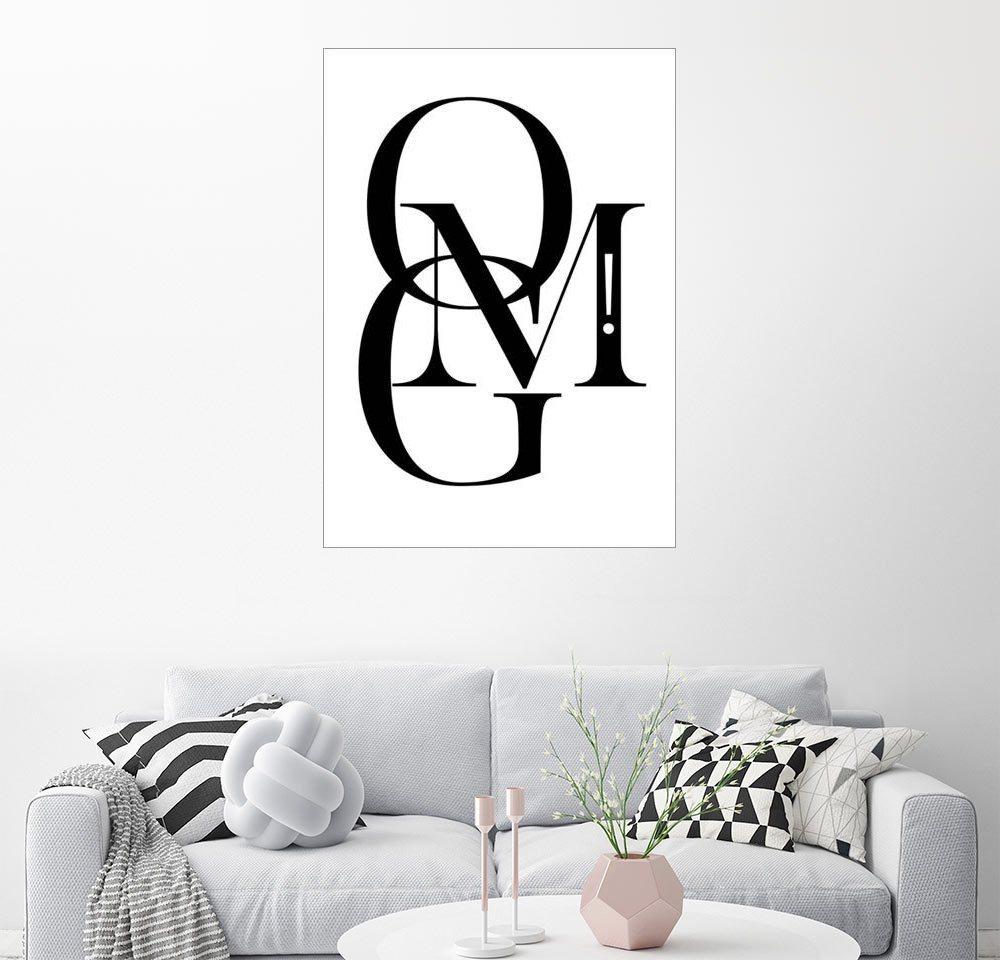 Posterlounge Wandbild - Stephanie Wünsche »OMG!« | Dekoration > Bilder und Rahmen > Bilder | Holz | Posterlounge