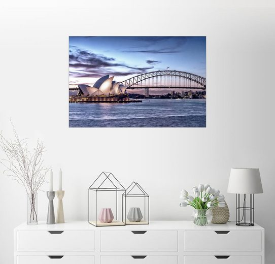 Posterlounge Wandbild »Oper und Brücke, Sydney«