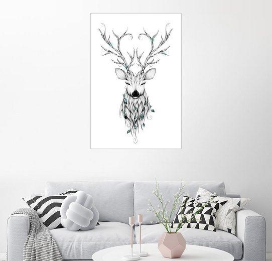 Posterlounge Wandbild - LouJah »Poetic Deer«