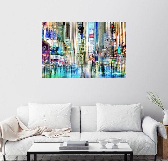 Posterlounge Wandbild - Städtecollagen »times square USA NYC New York Collage«
