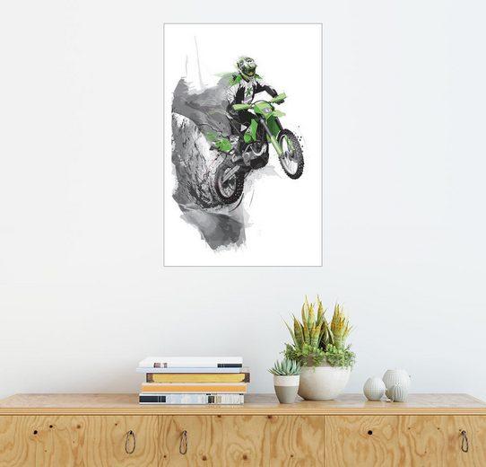 Posterlounge Wandbild - tom »motocross«