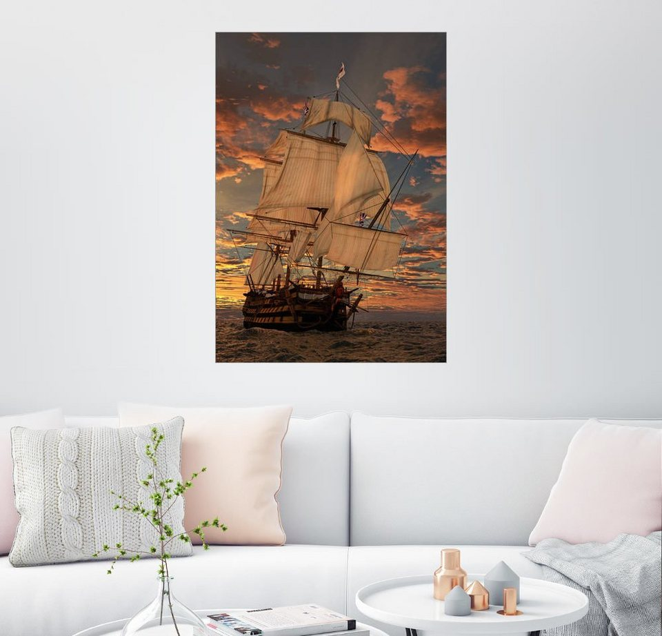 posterlounge wandbild peter weishaupt die hms victory online kaufen otto. Black Bedroom Furniture Sets. Home Design Ideas