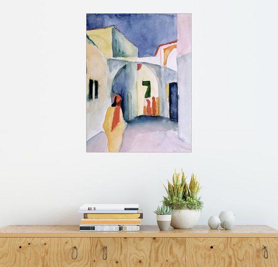 Posterlounge Wandbild - August Macke »Gasse in Tunis«