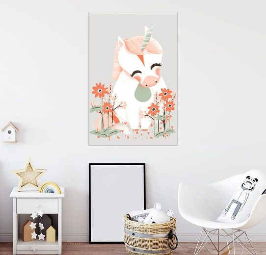 Posterlounge Wandbild - Kanzi Lue »Tierfreunde - Das Einhorn«