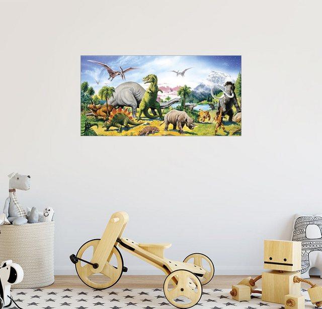 Posterlounge Wandbild Paul Simmons Land der Dinosaurier