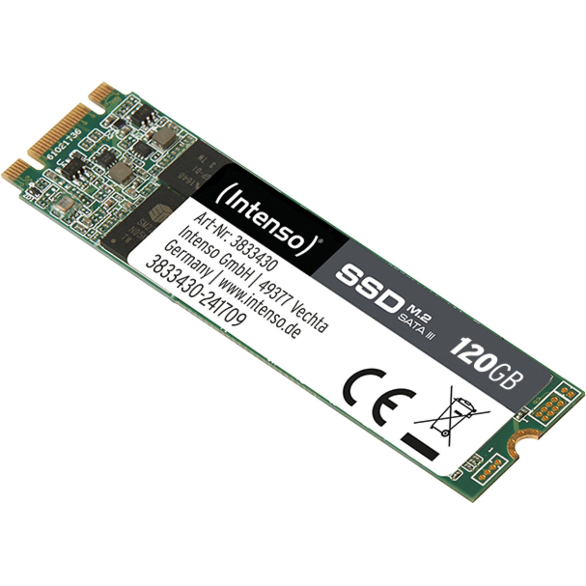 Intenso Solid State Drive »High Performance 120 GB, SATA 6Gb/s / M.2-Bauform«
