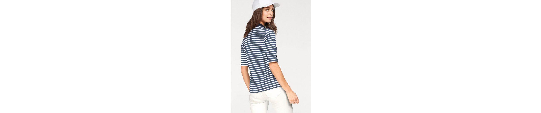 Olsen aus Poloshirt gestreift Poloshirt Baumwolle Olsen Poloshirt R6wvRrn