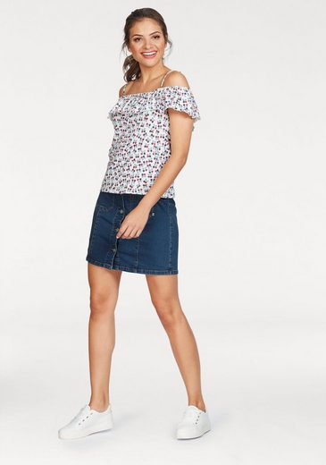 People Tree Carmen Shirt Ozette, With Great Berry-over Print