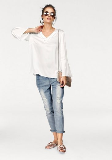 Claire Woman Blouses Shirt, With Delicate Crochet-inserts