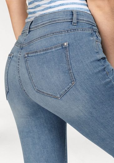 Gerke My Pants 7/8 Jeans, Jeans Lilo Cropped, Straight Leg, The Leg With Glittering Application