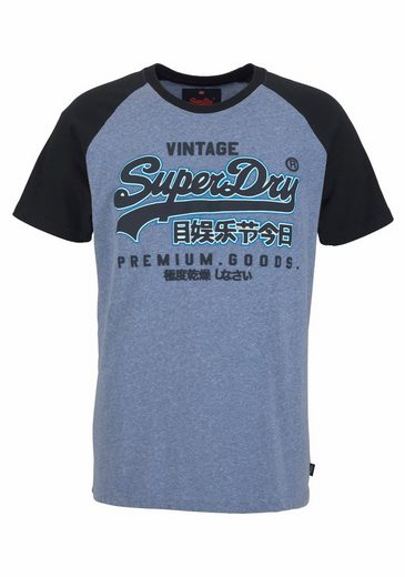 Superdry T-Shirt PREMIUM GOODS RAGLAN TEE