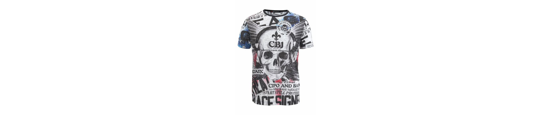 Cipo & Baxx T-Shirt Heaven & Paradice Billig Zuverlässig 2018 Neuer Günstiger Preis Günstig Kaufen Bestseller Einen Günstigen Online-Verkauf Freies Verschiffen Preiswerter Preis 94y6wC