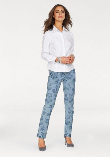 Form Die pocket Bedruckt Print« »melanie Mac Feminine jeans Allovwer 5 qTFwFS0