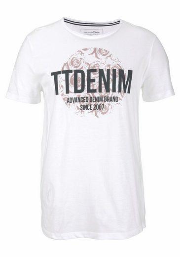 Tom Tailor Denim Rundhalsshirt, Mit großem Frontprint