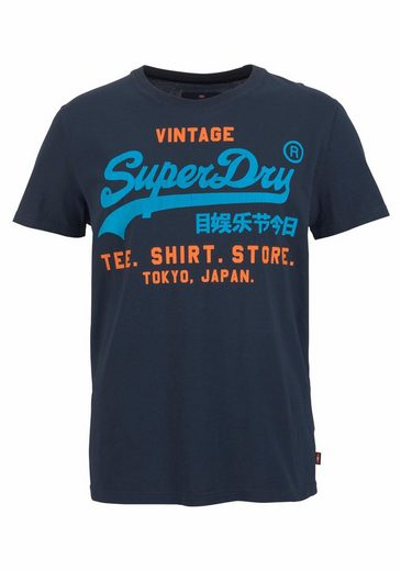 Superdry Rundhalsshirt SHIRT SHOP DUO LITE TEE