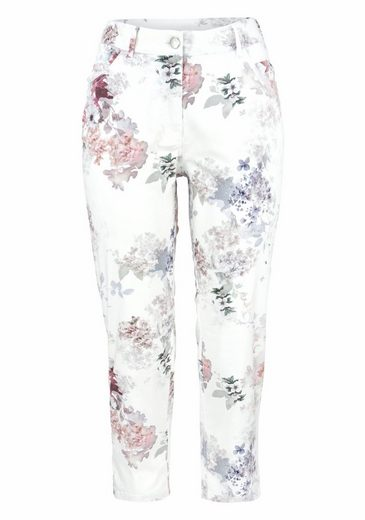 GERKE MY PANTS 7/8-Hose, mit femininem Blumen-Print
