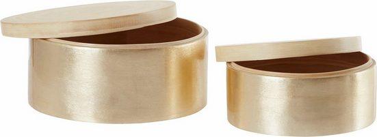 Aufbewahrungsbox (2er-Set), aus Bambus