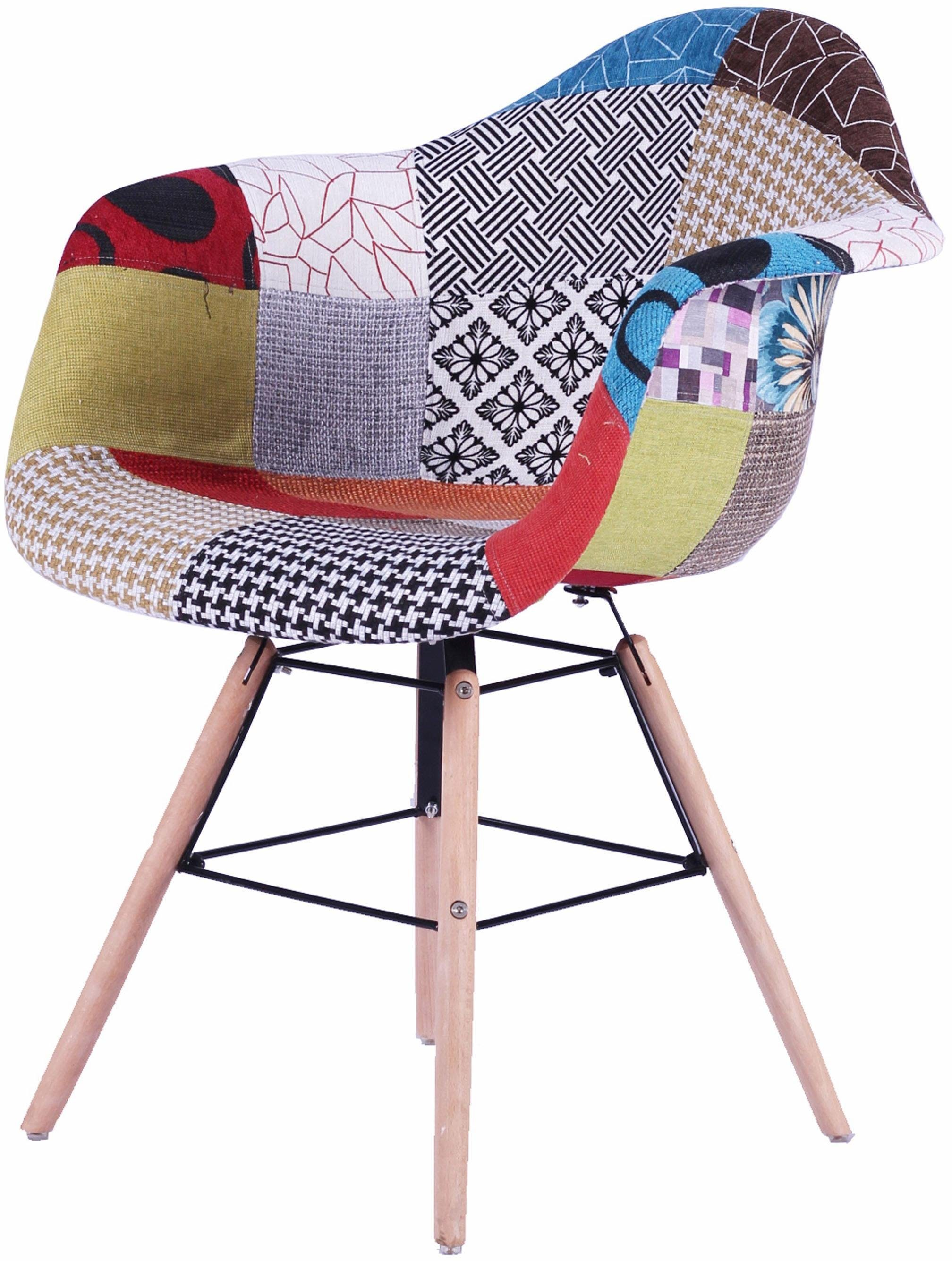 SIT Stühle mit Armlehne, Kombiniert mit ausgestellten Buchenholz-Beinen (2 Stück)