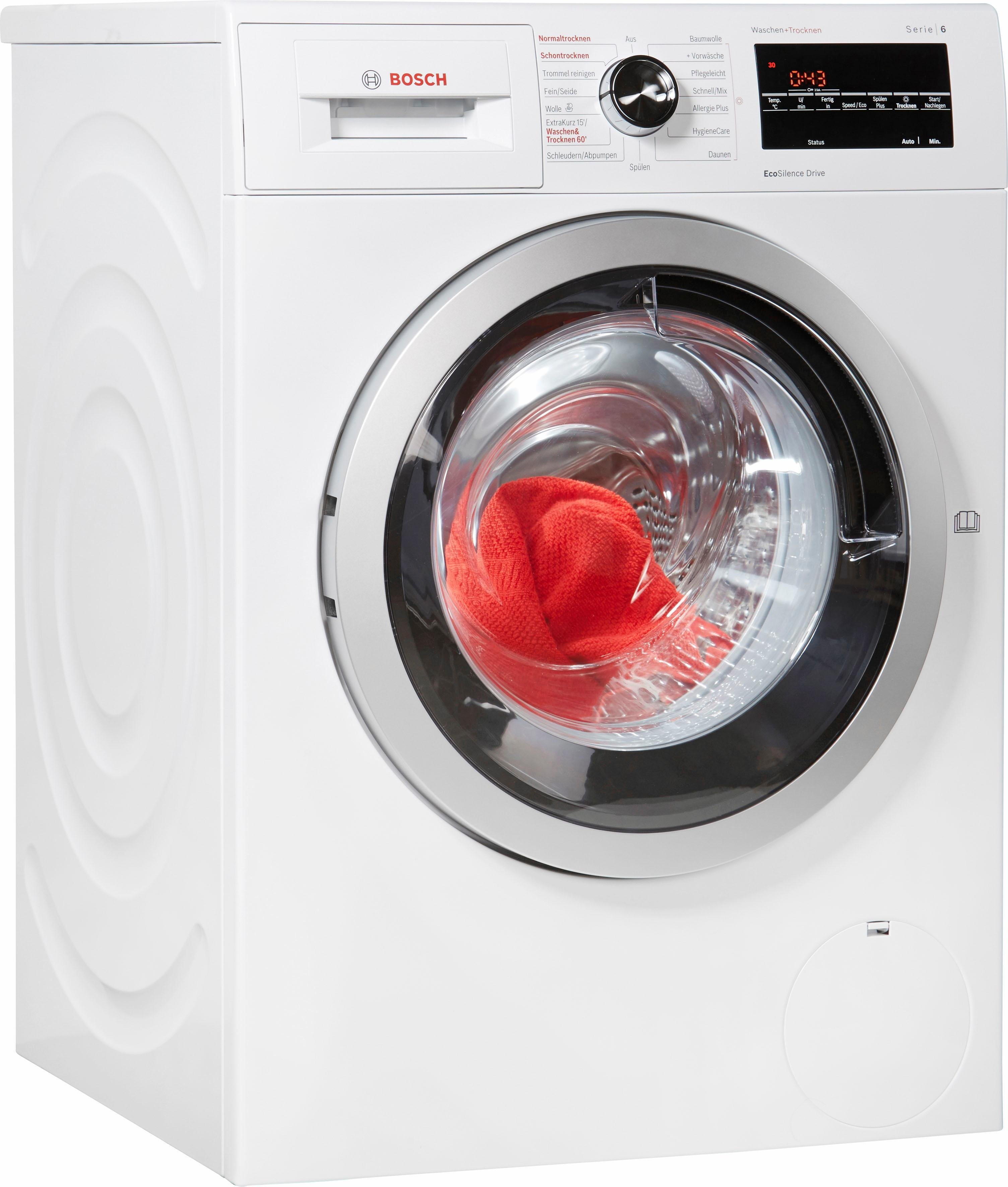 BOSCH Waschtrockner WVG30443, A, 7 kg / 4 kg, 1.500 U/Min