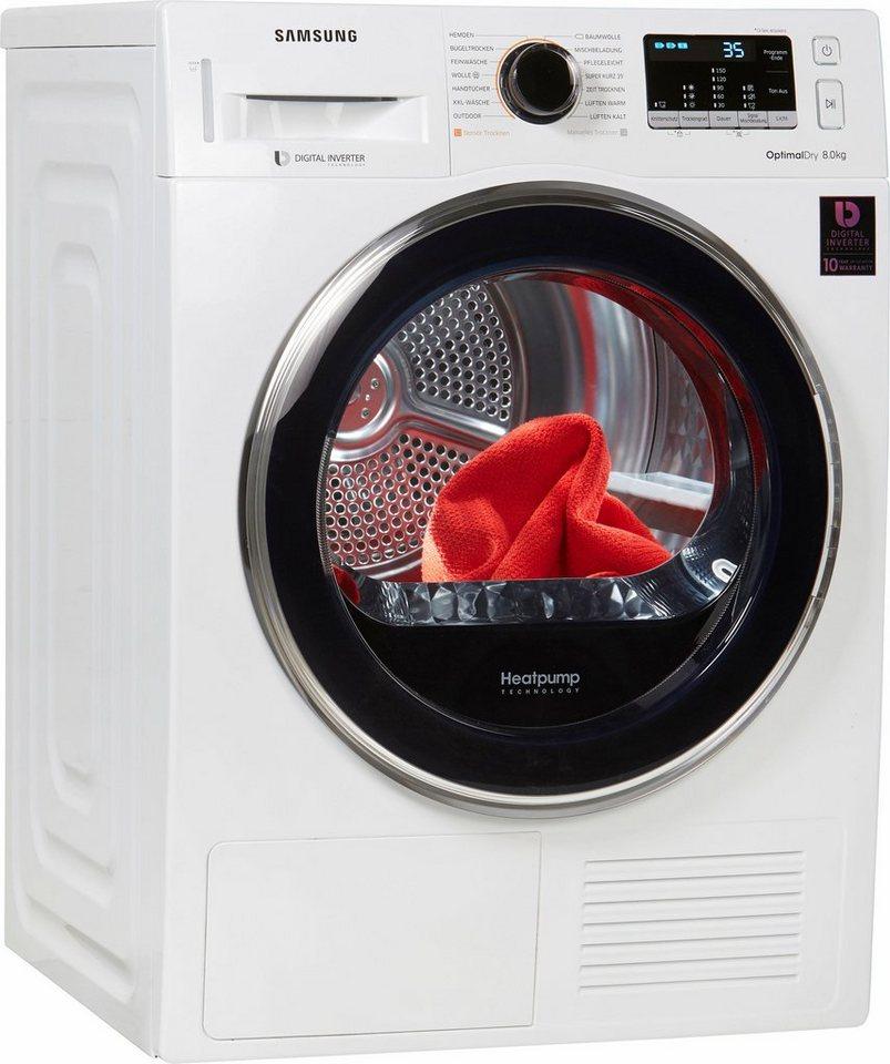 samsung w rmepumpentrockner dv5500 dv81m5210qw eg 8 kg online kaufen otto. Black Bedroom Furniture Sets. Home Design Ideas
